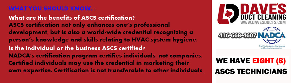 DAVE'S DUCT CLEANING - 8 NADCA CERTIFIED AIR SYSTEMS CLEANING SPECIALISTS