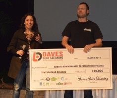 2016 National Home Show Cheque Presentation