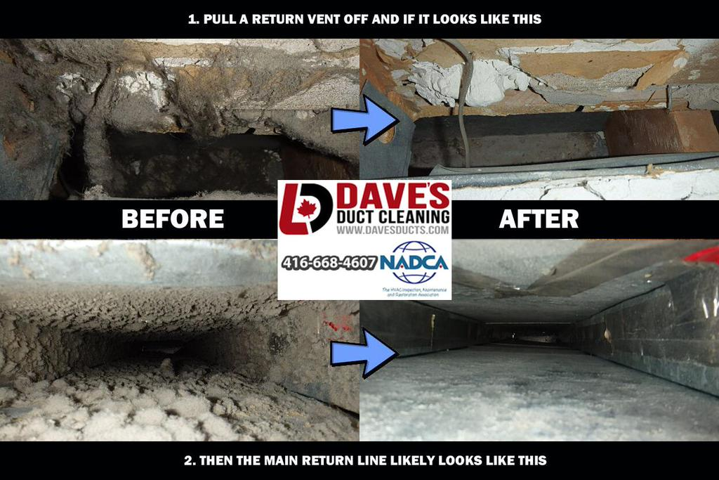 Before and After Photos from Dave's Duct Cleaning